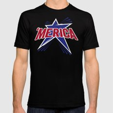 'Merica 2 Black SMALL Mens Fitted Tee