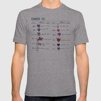 Chinese 101 Mens Fitted Tee Athletic Grey SMALL