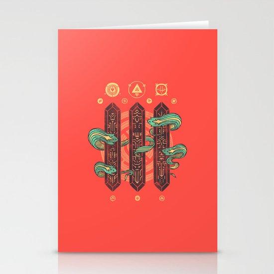 Alien Sorcery Stationery Card