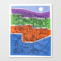 Seoul City #1 Canvas Print