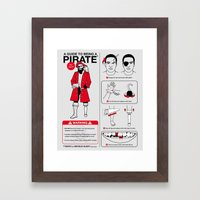 A Guide To Being A Pirate Framed Art Print