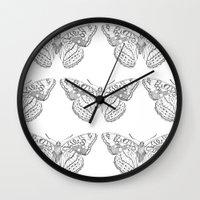 Butterfly dots Wall Clock