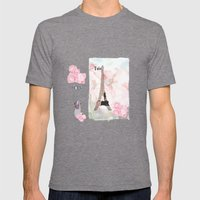 Paris Love Mens Fitted Tee Tri-Grey SMALL
