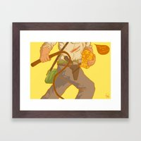 Golden Idol Framed Art Print