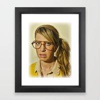 i.am.nerd. :: lizzy c. Framed Art Print