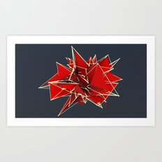 abstract polygons Art Print