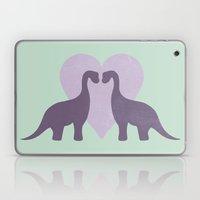 Prehistoric Love - Sans … Laptop & iPad Skin