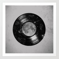 Art Print featuring Galaxy Tunes by Zach Terrell
