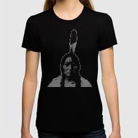 #1 Sitting Bull - RIP (R… Womens Fitted Tee Black SMALL