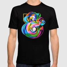 Champersands Mens Fitted Tee SMALL Black