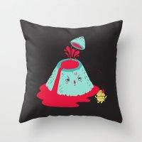 Watch Your Temper Throw Pillow
