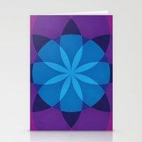 Night Lotus Stationery Cards