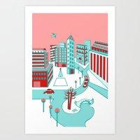 Winter City Art Print