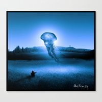 Ghostly Encounter Canvas Print