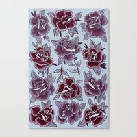 Dozen Roses - Purple Canvas Print