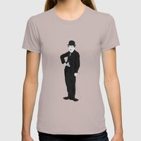 Charlie Chaplin Womens Fitted Tee Cinder SMALL