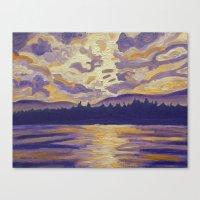 Okanagan Landscape In Pu… Canvas Print