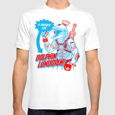 A Juicebox for Dolphin Lundgren Mens Fitted Tee White SMALL