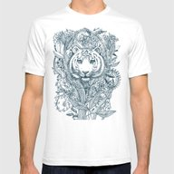 Tiger Tangle Mens Fitted Tee White SMALL