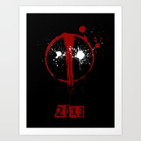 Deadpool. Art Print