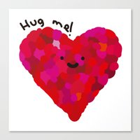 Hug me! Canvas Print