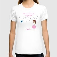 Sing For Joy Womens Fitted Tee White SMALL