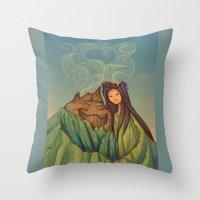 Volcano Love Throw Pillow