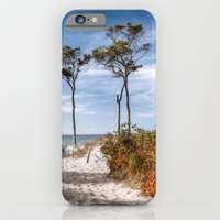 iPhone Cases featuring Entrance to the Sea by UtArt