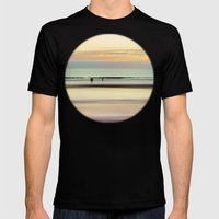 An Evening At The Beach Mens Fitted Tee Black SMALL