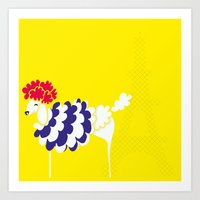 French Poodle Art Print