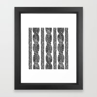 Cable Row Framed Art Print