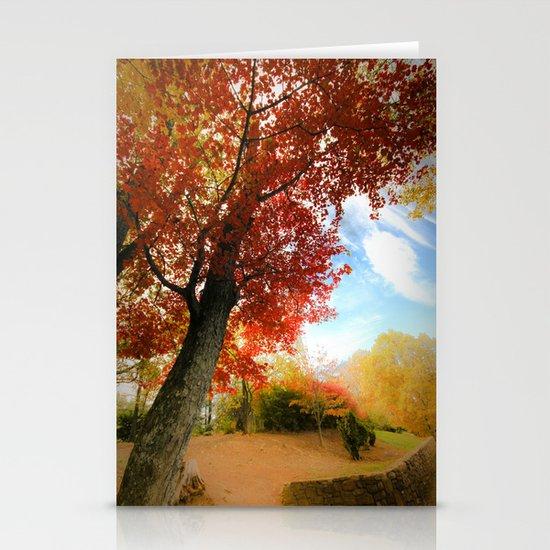 Autumn Tree Scene Stationery Card