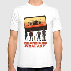 GUARDIANS OF THE GALAXY SMALL Mens Fitted Tee White