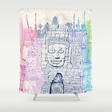 Angkor Wat & Thailand Shower Curtain