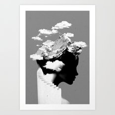 It's a cloudy day Art Print