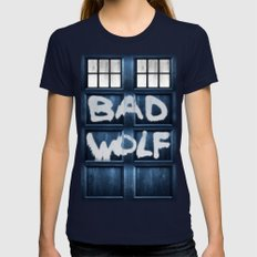 DOCTOR WHO SERIES / BAD … Womens Fitted Tee Navy SMALL