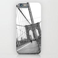 iPhone & iPod Case featuring Brooklyn Bridge by Tom England