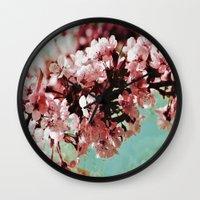 Springblossom - photography Wall Clock