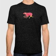 Baer  With Flowers  Mens Fitted Tee Tri-Black MEDIUM