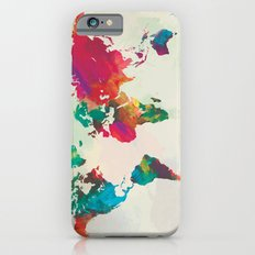 Watercolor World Map iPhone 6 Slim Case