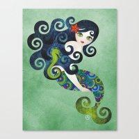 Aquamarine Mermaid Canvas Print