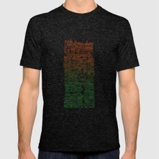 Autumn City Mens Fitted Tee Tri-Black SMALL