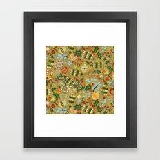 vintage christmas gold Framed Art Print
