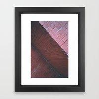 red shapes Framed Art Print