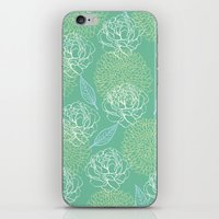 Pastel Peony And Leaf Pa… iPhone & iPod Skin
