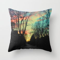 The Sky Is Moving Throw Pillow