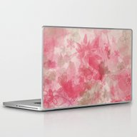 Laptop & iPad Skin featuring Pink Flowers by Mikito.Designs
