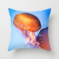 Large Jellyfish Throw Pillow