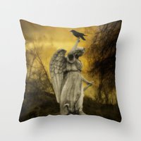 Golden Eclipse Throw Pillow