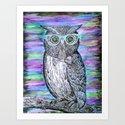 Owl Typography Art Print